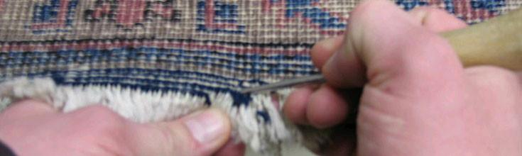 Oriental Rug Fringe Repair