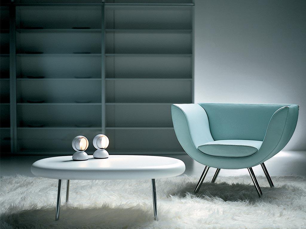 sofa and shag rug