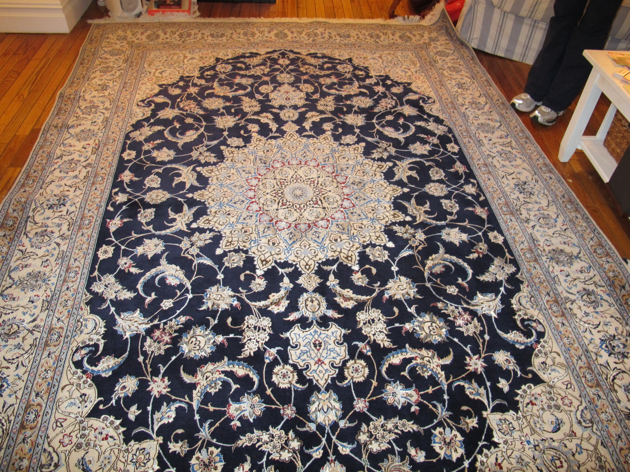 silk rug after stain removal